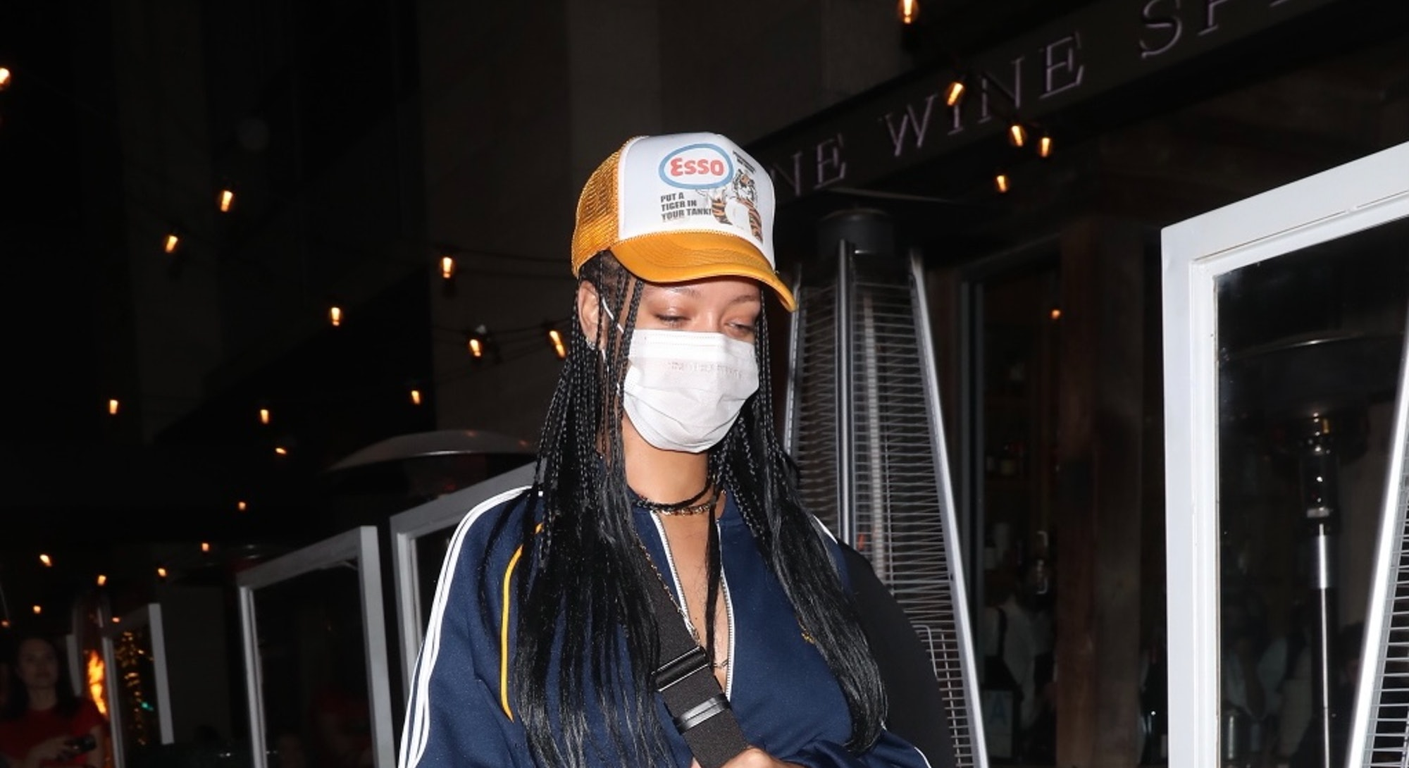 LOS ANGELES CA - APRIL 12:  Rihanna is seen at Wallys on April 12, 2021 in Los Angeles, California. (Photo by 007 / photographer group /MEGA/GC Images)