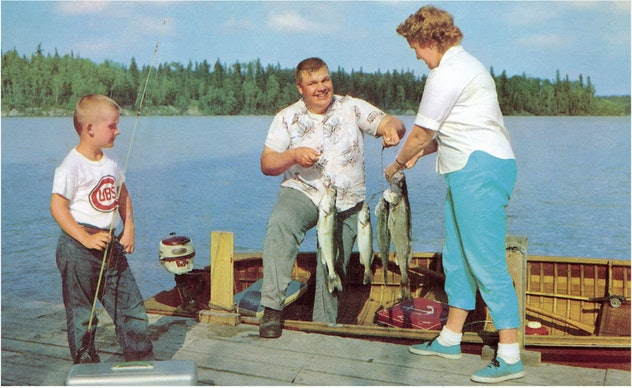 1960s fishing trip with grandparents.