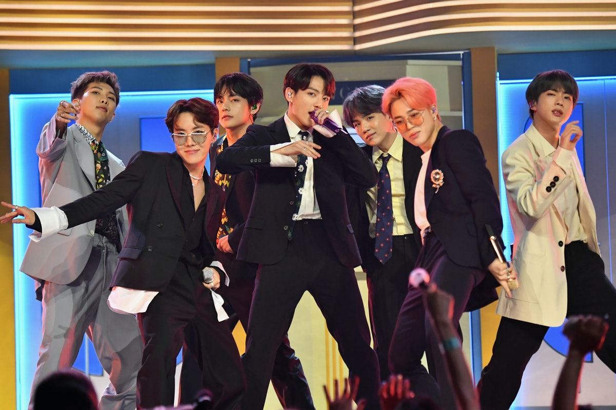 LAS VEGAS, NV - MAY 01:  BTS performs onstage during the 2019 Billboard Music Awards at MGM Grand Garden Arena on May 1, 2019 in Las Vegas, Nevada.  (Photo by Jeff Kravitz/FilmMagic for dcp)