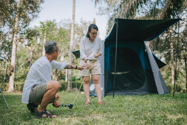 One camping tip for families is to test your gear before you go.
