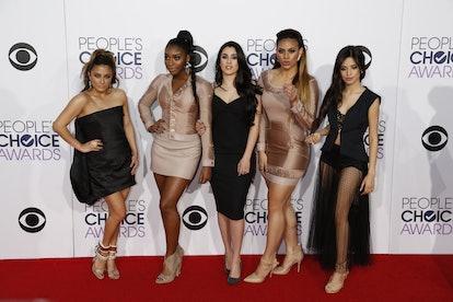 Singers Ally Brooke Hernandez (l-r), Normani Hamilton, Lauren Jauregui, Dinah Jane Hansen and Camila...