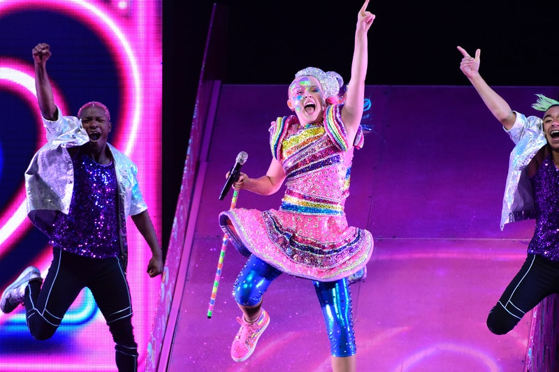 ANAHEIM, CALIFORNIA - AUGUST 13: Singer JoJo Siwa performs at Honda Center on August 13, 2019 in Anaheim, California. (Photo by Michael Tullberg/Getty Images)