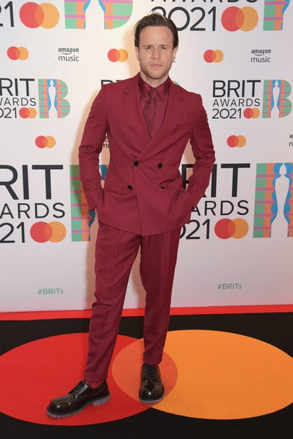 LONDON, ENGLAND - MAY 11:   Olly Murs arrives at The BRIT Awards 2021 at The O2 Arena on May 11, 2021 in London, England.  (Photo by David M. Benett/Dave Benett/Getty Images)