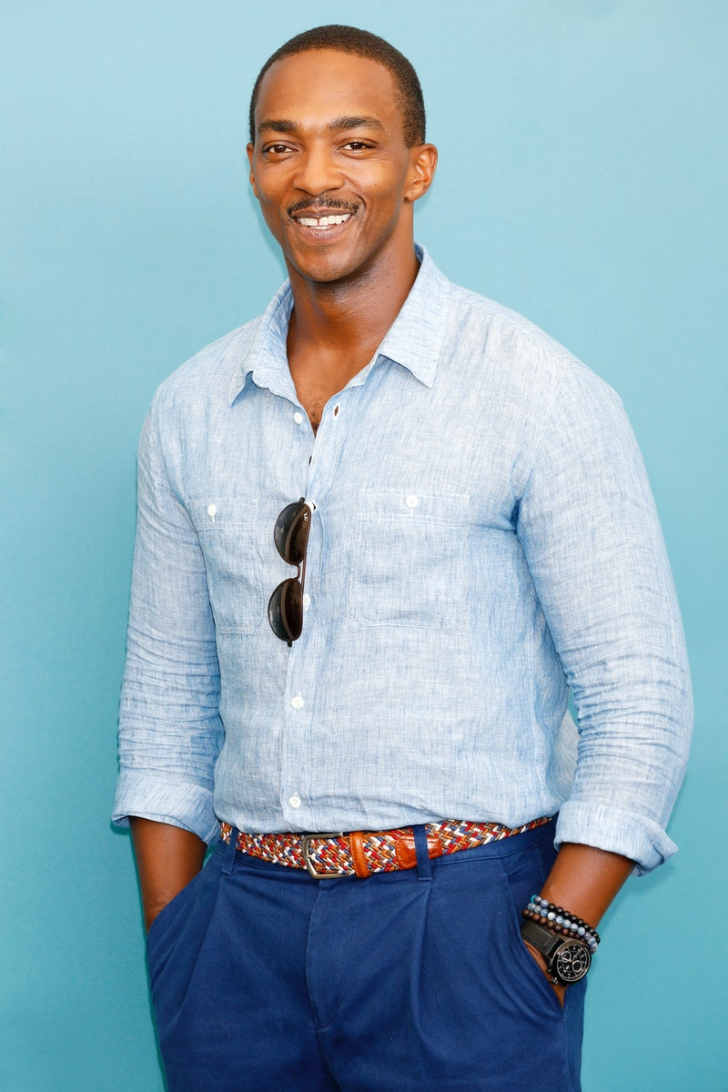 Anthony Mackie attends the photo call for 'Seberg.' Photo by Kurt Krieger/Corbis via Getty Images