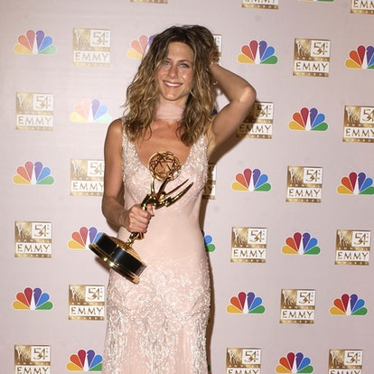 """Jennifer Aniston winner for Best Lead Actress In A Comedy Series, """"Friends"""", at the 54th Annual Emmy Awards (Photo by SGranitz/WireImage)"""