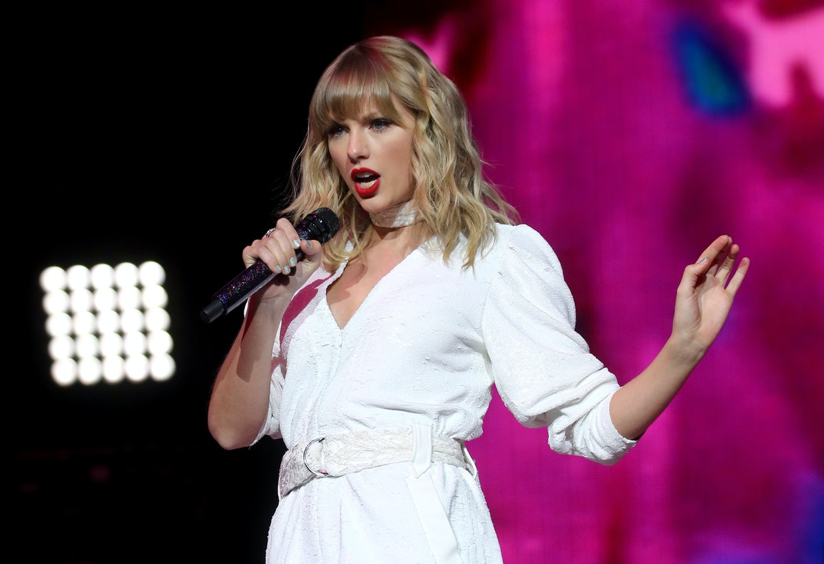Taylor Swift performs on stage during day two of Capital's Jingle Bell Ball with Seat at London's O2 Arena. (Photo by Isabel Infantes/PA Images via Getty Images)