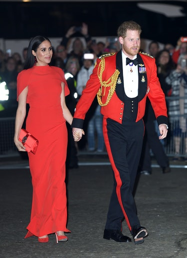 LONDON, ENGLAND - MARCH 07: Prince Harry, Duke of Sussex and Meghan, Duchess of Sussex attend the Mo...