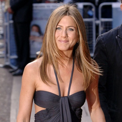 Jennifer Aniston arrives at the UK film premiere of The Break Up, at the Vue West End cinema, central London.   (Photo by Yui Mok - PA Images/PA Images via Getty Images)