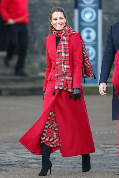 CARDIFF, WALES - DECEMBER 08: Catherine, Duchess of Cambridge attends Cardiff Castle on December 08, 2020 in Cardiff, Wales. The Duke and Duchess are undertaking a short tour of the UK ahead of the Christmas holidays to pay tribute to the inspiring work of individuals, organizations and initiatives across the country that have gone above and beyond to support their local communities this year. (Photo by Chris Jackson/Getty Images)