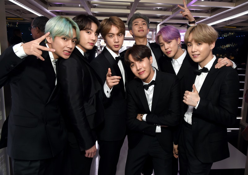 BTS backstage during the 61st Grammy Awards at Staples Center in 2019.