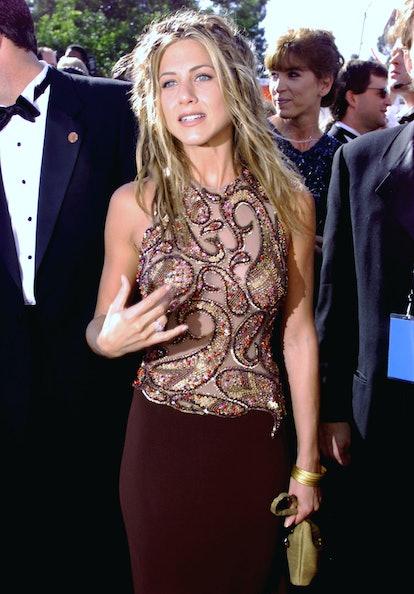 Jennifer Aniston wearing a Randolph Duke dress at the 1999 Emmys.