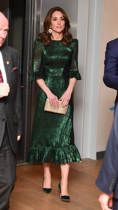 DUBLIN, IRELAND - MARCH 03: Catherine, Duchess of Cambridge attends a reception with Prince William, Duke of Cambridge, hosted by the British Ambassador to Ireland Robin Barnett, at the Guinness Storehouse's Gravity Bar during day one of their visit to Ireland on March 03, 2020 in Dublin, Ireland. (Photo by James Whatling - WPA Pool/Getty Images)