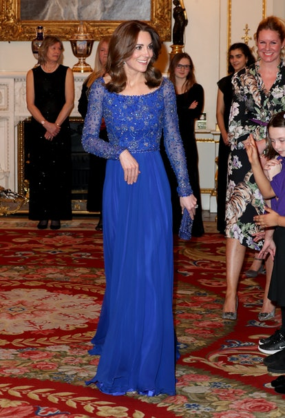 LONDON, ENGLAND - MARCH 09: Catherine, Duchess of Cambridge hosts a Gala Dinner in celebration of the 25th anniversary of Place2Be at Buckingham Palace on March 09, 2020 in London, England. The Duchess is Patron of Place2Be, which provides emotional support at an early age and believes no child should face mental health difficulties alone. (Photo by Chris Jackson - WPA Pool/Getty Images)