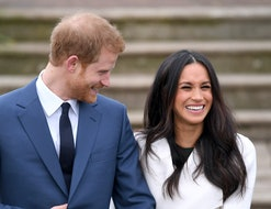 LONDON, ENGLAND - NOVEMBER 27:  Prince Harry and Meghan Markle attend an official photocall to announce the engagement of Prince Harry and actress Meghan Markle at The Sunken Gardens at Kensington Palace on November 27, 2017 in London, England.  Prince Harry and Meghan Markle have been a couple officially since November 2016 and are due to marry in Spring 2018.  (Photo by Karwai Tang/WireImage)