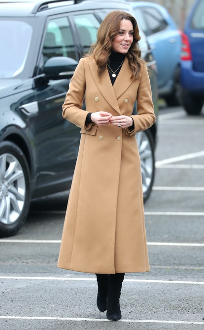 CARDIFF, WALES - JANUARY 22: Catherine, Duchess of Cambridge arrives at Ely and Careau Children's Centre on January 22, 2020 in Cardiff, Wales. The visit is part of HRH's 24-hour tour of the country to launch '5 big questions on the under 5s'. (Photo by Chris Jackson/Getty Images)