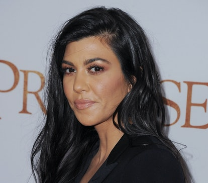 """HOLLYWOOD, CA - APRIL 12:  Kourtney Kardashian arrives at the Los Angeles Premiere """"The Promise"""" at ..."""