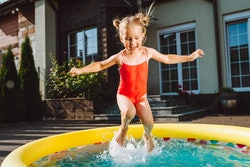 Inflatable pools are perfect for any kind of yard this summer.