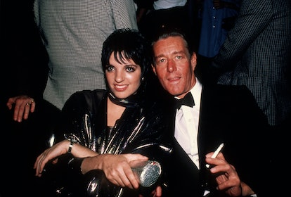 New York, NY circa 1982: Liza Minnelli with designer Halston circa 1982 in New York City. (Photo by Robin Platzer/IMAGES/Getty Images)