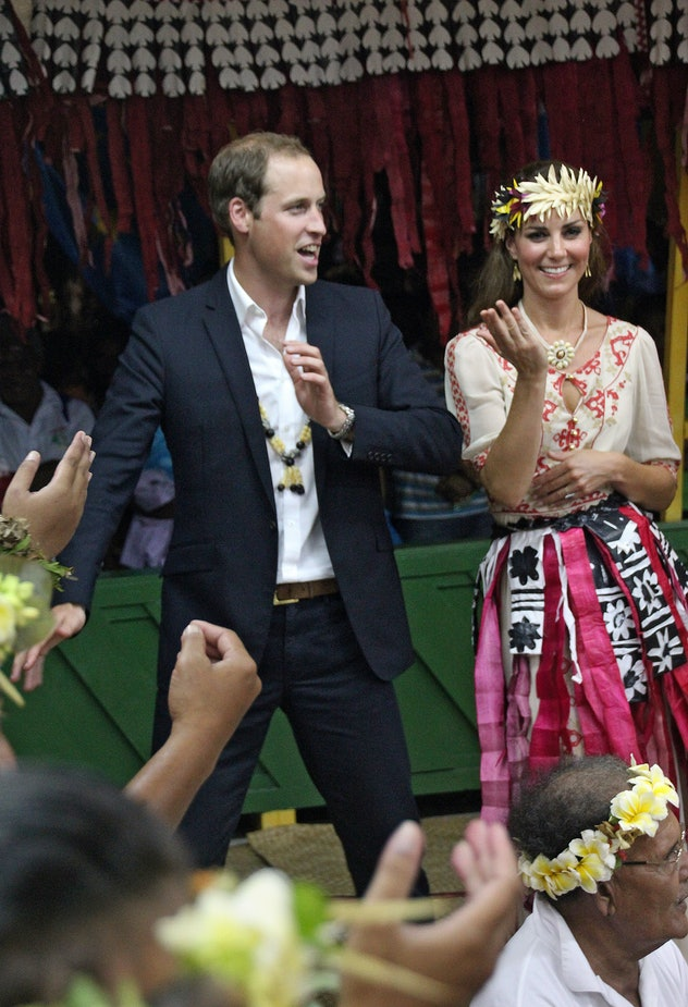Kate Middleton dances with Prince William.