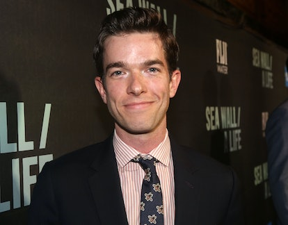 """NEW YORK, NY - AUGUST 08: John Mulaney poses at the opening night of """"Sea Wall/A Life"""" on Broadway a..."""