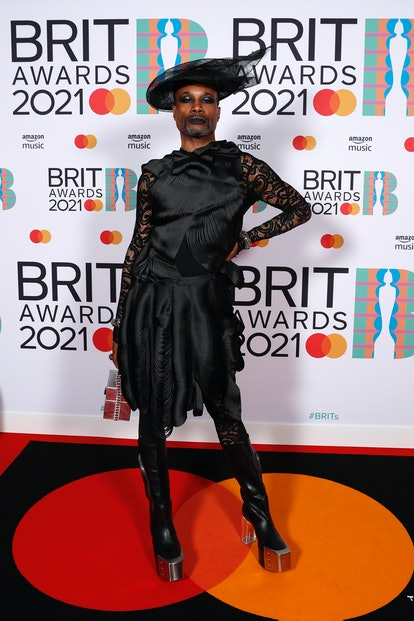 LONDON, ENGLAND - MAY 11: Billy Porter poses in the media room during The BRIT Awards 2021 at The O2 Arena on May 11, 2021 in London, England. (Photo by JMEnternational/JMEnternational for BRIT Awards/Getty Images)