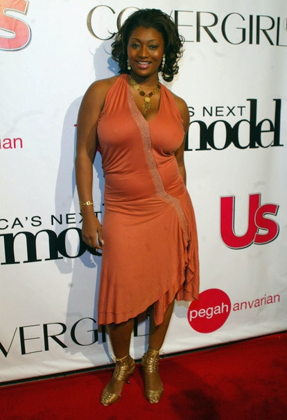 """LOS ANGELES - DECEMBER 15: Model Toccara Jones arrives at the Finale Party for UPN's """"America's Next..."""