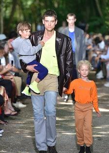 PARIS, - - JUNE 21:  A model walks the runway at the Balenciaga Spring Summer 2018 fashion show duri...