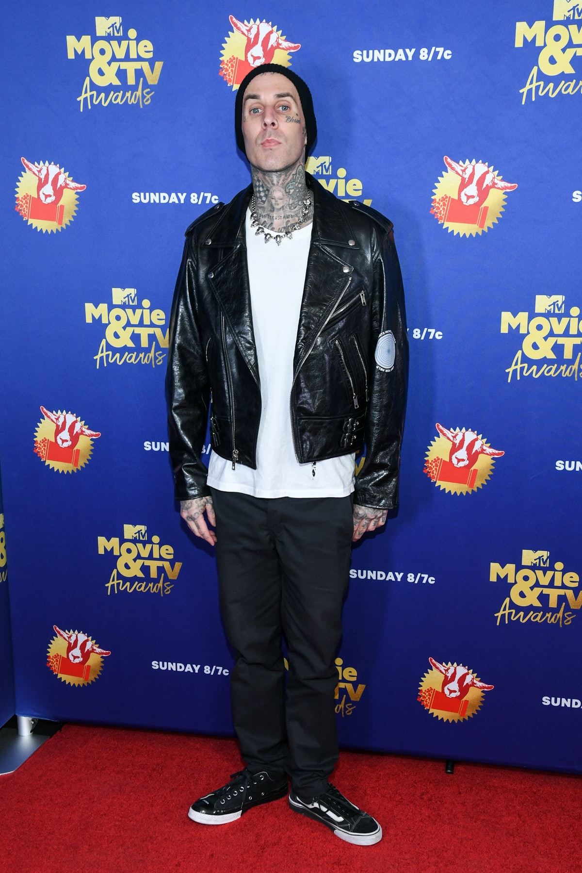 UNSPECIFIED - DECEMBER 6: In this image released on December 6, Travis Barker attends the 2020 MTV Movie & TV Awards: Greatest Of All Time broadcast on December 6, 2020. (Photo by Kevin Mazur/2020 MTV Movie & TV Awards/Getty Images for MTV Communications) (Photo by Kevin Mazur/2020 MTV Movie & TV Awards/Getty Images)