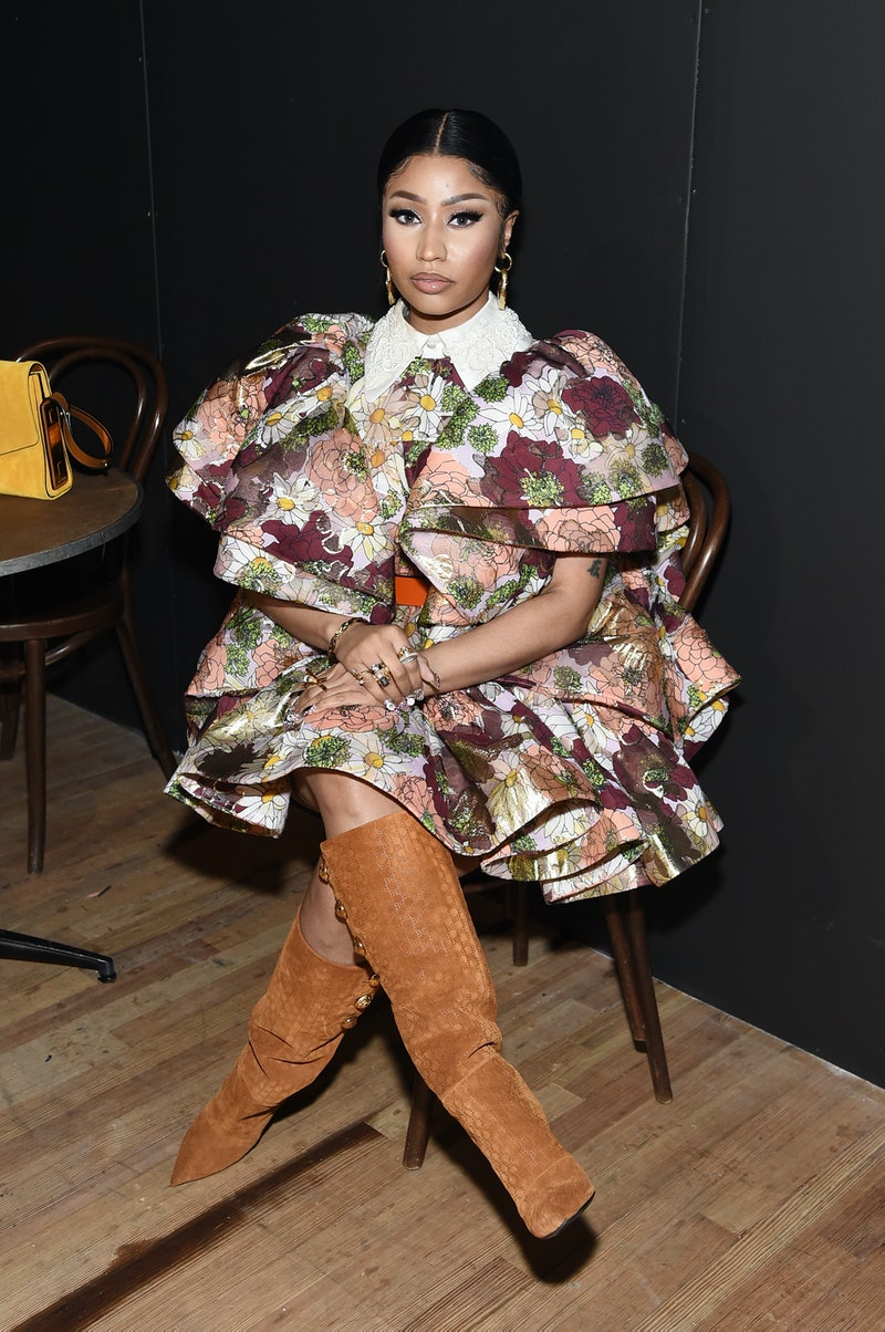 NEW YORK, NEW YORK - FEBRUARY 12: Nicki Minaj attends the Marc Jacobs Fall 2020 runway show during New York Fashion Week on February 12, 2020 in New York City. (Photo by Jamie McCarthy/Getty Images for Marc Jacobs)