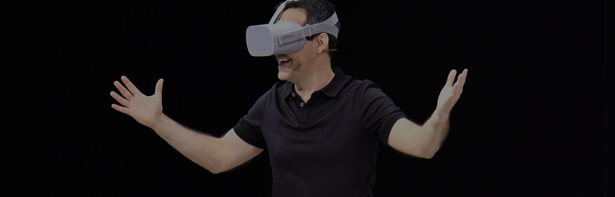 Facebook vice president of VR Hugo Barra demonstrates how to use the new Oculus Go during the annual F8 summit at the San Jose McEnery Convention Center in San Jose, California on May 1, 2018. - Facebook chief Mark Zuckerberg announced the world's largest social network will soon include a new dating feature -- while vowing to make privacy protection its top priority in the wake of the Cambridge Analytica scandal. (Photo by JOSH EDELSON / AFP)        (Photo credit should read JOSH EDELSON/AFP via Getty Images)