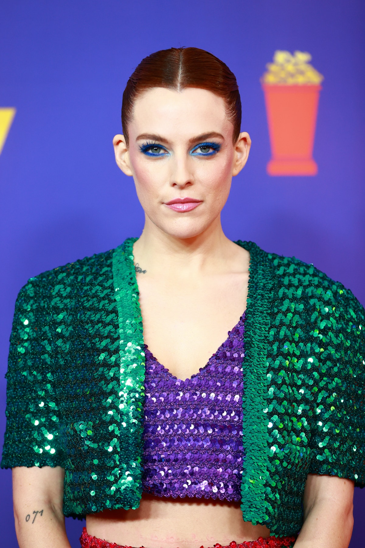 Riley Keough attends the 2021 MTV Movie & TV Awards