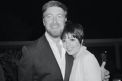 (Original Caption) Beverly Hills, Calif.: Actress Liza Minnelli, 28, and producer Jack Haley Jr. 40, were married today in Santa Barbara California. The couple arrive at the home of his parents in Beverly Hills for a wedding reception with friends and relatives.