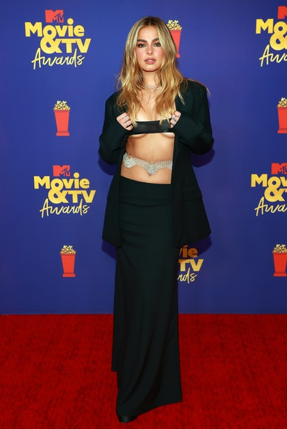 LOS ANGELES, CALIFORNIA - MAY 16: Addison Rae attends the 2021 MTV Movie & TV Awards at the Hollywoo...
