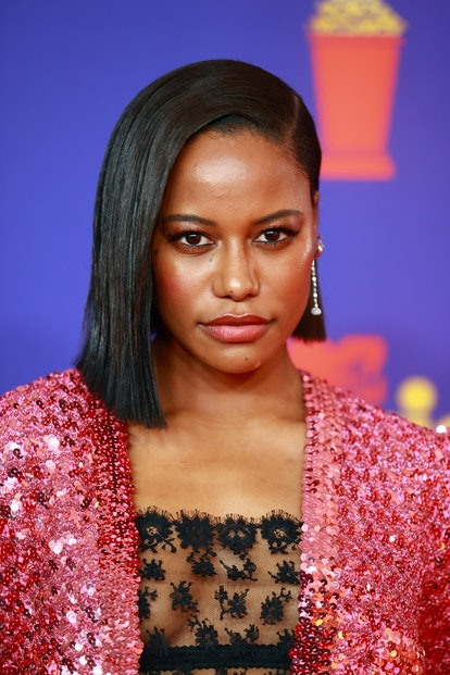 Taylour Paige attends the 2021 MTV Movie & TV Awards