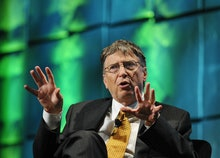 Bill Gates, co-chairman and trustee of the Bill and Melinda Gates Foundation, speaks at the mHealth ...