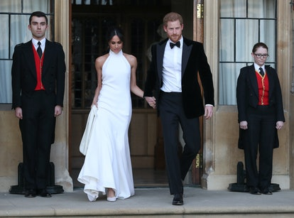 Meghan Markle wore a second dress for her wedding reception, a silk crepe gown by Stella McCartney.
