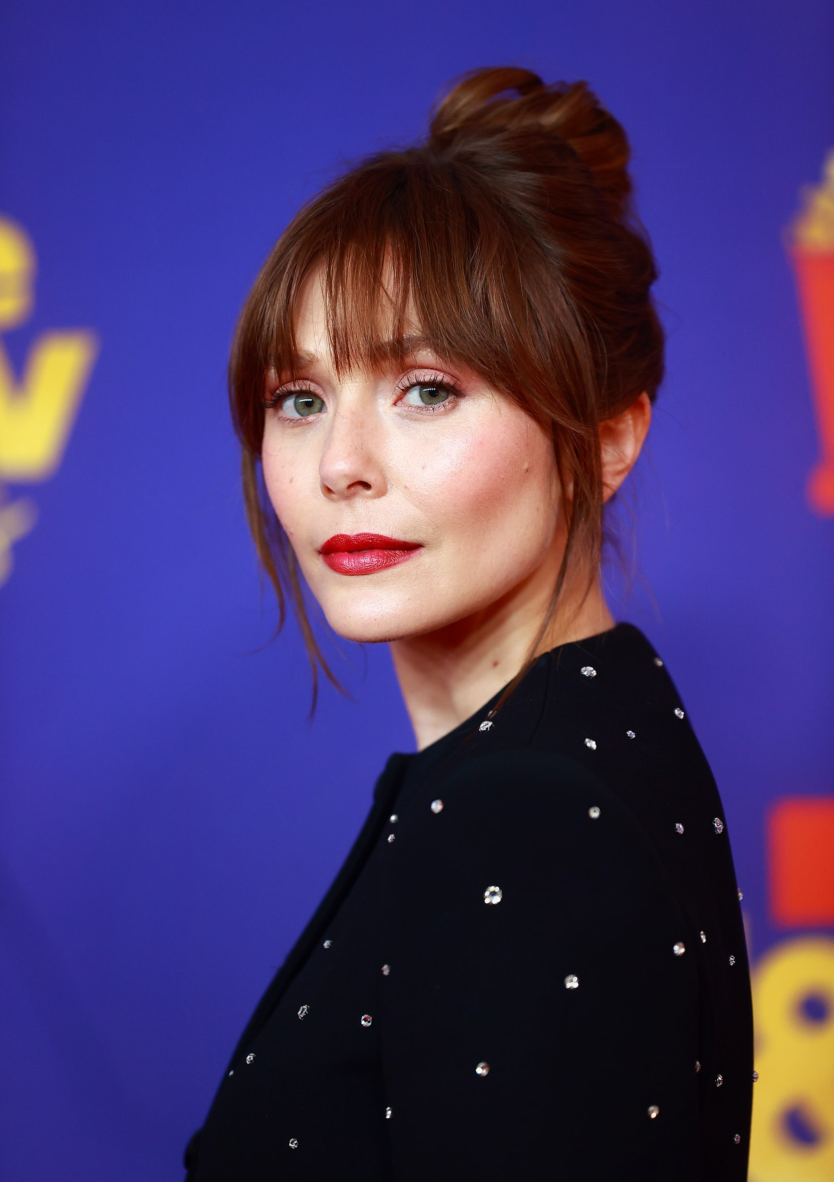 Elizabeth Olsen attends the 2021 MTV Movie & TV Awards