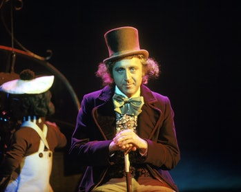 Actor Gene Wilder as Willy Wonka on the set of the film 'Willy Wonka & the Chocolate Factory', based on the novel by Roald Dahl, 1971.  (Photo by Silver Screen Collection/Getty Images)