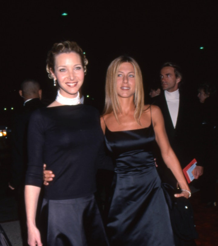 """Lisa Kudrow & Jennifer Aniston of the television show """"Friends"""" on the red carpet for the People's C..."""