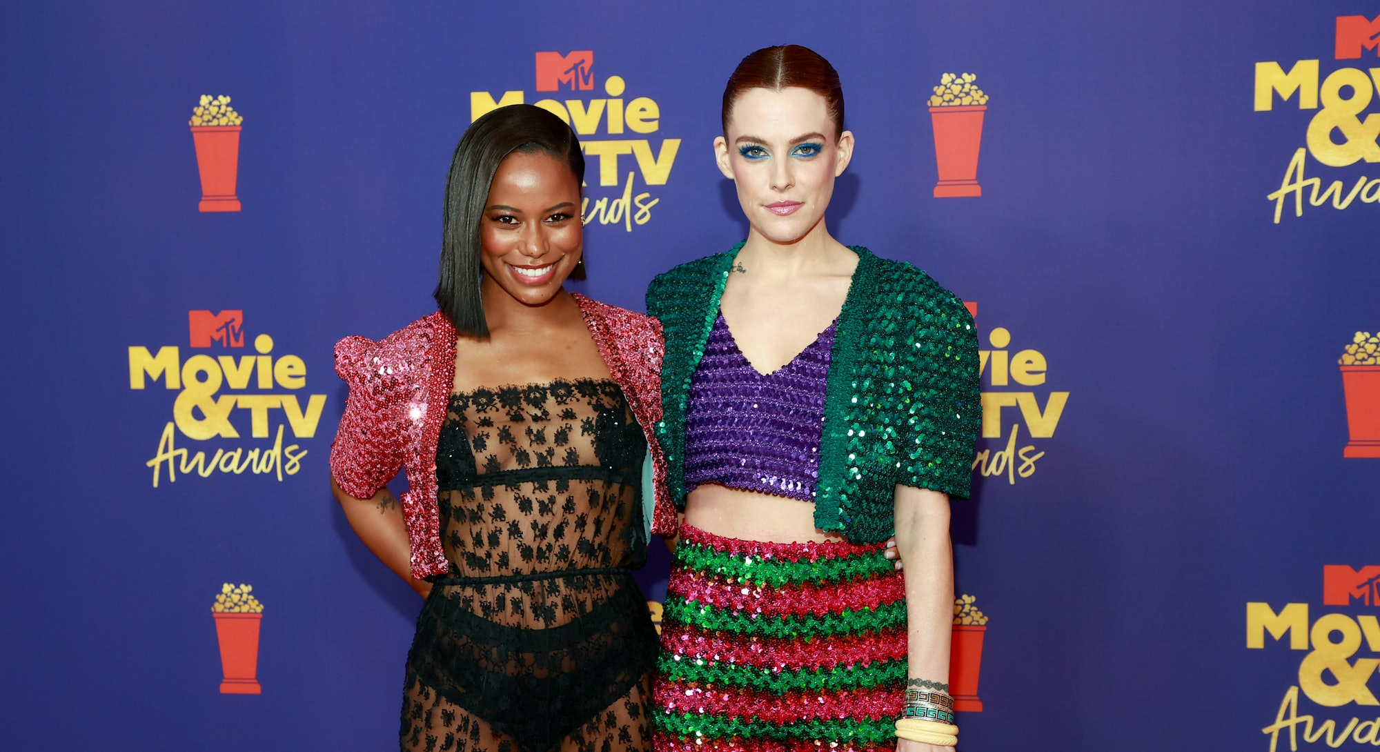 LOS ANGELES, CALIFORNIA - MAY 16: (EDITORS NOTE: Image contains nudity) (L-R) Taylour Paige and Rile...