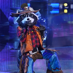 THE MASKED SINGER: Racoon in the  Return Of The Masks season five premiere episode of THE MASKED SIN...