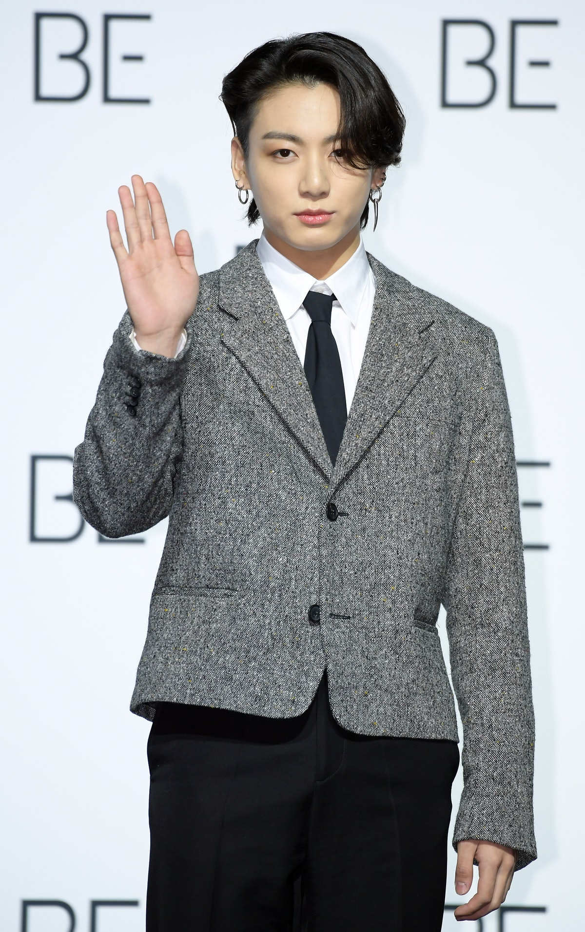 SEOUL, SOUTH KOREA - NOVEMBER 20: Jungkook of BTS during BTS's New Album 'BE (Deluxe Edition)' Release Press Conference at Dongdaemun Design Plaza on November 20, 2020 in Seoul, South Korea. (Photo by The Chosunilbo JNS/Imazins via Getty Images)