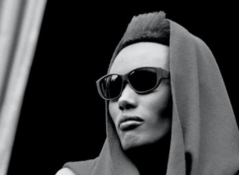Jamaican actress, model, and singer Grace Jones at the 'View To A Kill' press photo call, 6/13/1985....