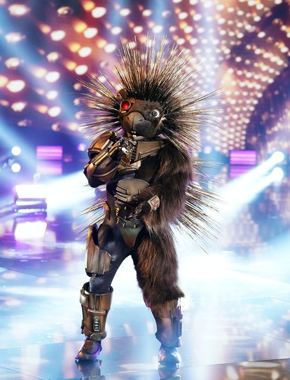 THE MASKED SINGER: Porcupine in the  Return Of The Masks season five premiere episode of THE MASKED ...