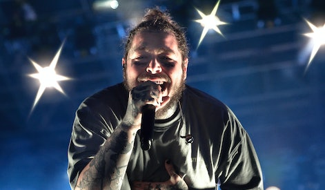American singer Post Malone Artist of the Year 2020 Billboard Music Awards.Record for Post Malone wi...