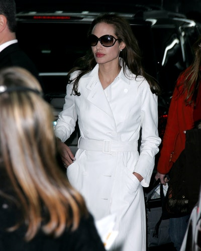 Angelina Jolie during Angelina Jolie Sighting In New York City - December 8, 2006 at Streets of Manhattan in New York City, New York, United States. (Photo by James Devaney/WireImage)
