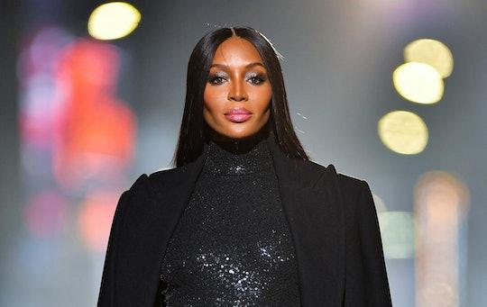 NEW YORK, NEW YORK - APRIL 08:  Naomi Campbell walks along 46th Street during the Michael Kors Fashi...