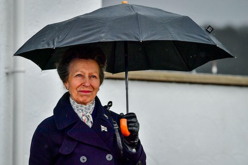 COWES, ENGLAND - APRIL 14: Princess Anne, Princess Royal visits the Royal Victoria Yacht Club, on th...