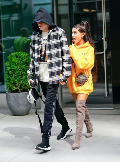 """Pete Davidson is """"happy"""" for Ariana Grande after she married Dalton Gomez."""