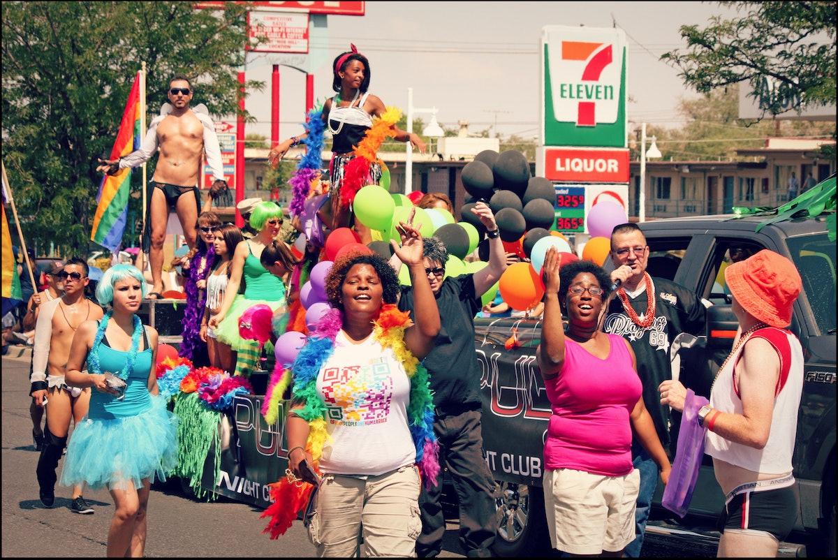 People celebrate Pride in Albuquerque, New Mexico.